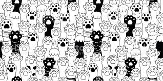 wallpaper cat illustration cat paw icon cat breed kitten hand doodle illustration seamless