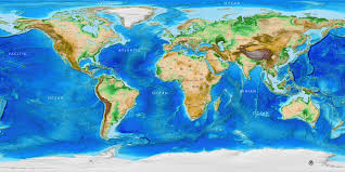 World Map Wall Poster by World Topography Map Wall Mural And Topographic Topographic
