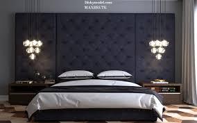 bedroom classic furniture with light blue tones unique drop lamp