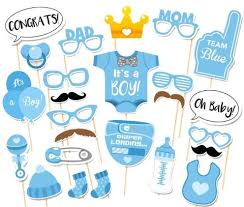 photo booth prop photo booth prop set for baby shower it s a boy girl 25