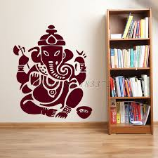 Modern Indian Home Decor Yoga Mandala Om Indian Buddha Namaste Quote Wall Decal Home Decor