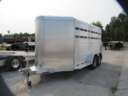 Aluminum Landscape Trailer by New 2017 Adams Trailers 14 U0027 All Aluminum Stock Trailer For Sale In