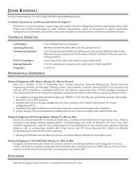 Best Electrical Engineer Resume by Network Engineer Resume Sample Experience Resumes