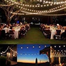 100 ft outdoor string lights 100 ft g40 ul listed outdoor globe string lights 100 sockets 125