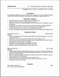 waiter resume sample resume sample for waiter position new restaurant waiter resume