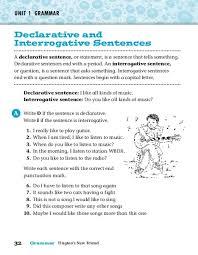 declarative and interrogative sentences worksheets 4th grade