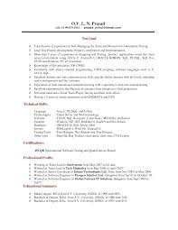 Software Testing Resume Resume Samples For Software Engineers With Experience Free