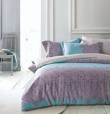Lilac Bedding Sets Boho Chic Paisley Scroll Duvet Quilt Cover Bohemian Damask
