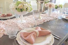 shabby chic table runner shabby chic table runner table designs