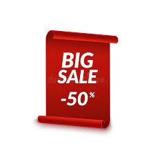 discount ribbon big sale vector ribbon design template banner sale tag market