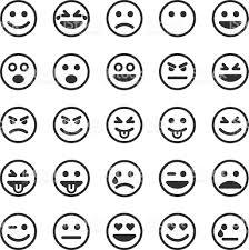small halloween emoticons transparent background set of black smileys stock vector art 578292936 istock