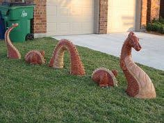tacky lawn ornaments or manythings on lawn looks like a