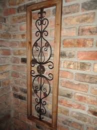 Fleur De Lis Home Decor by Wood Frame Metal Wall Decor Fleur De Lis Oak Color Wood Home Decor