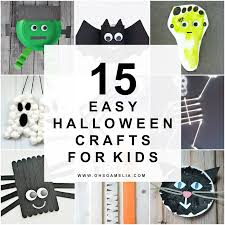 Fun Easy Halloween Crafts by 15 Easy Halloween Crafts For Kids Oh So Amelia