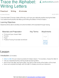 letter lessons
