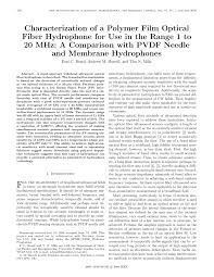 characterization of a polymer film optical fiber hydrophone for