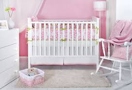Crib Bedding Green Pink White Green Damask Crib Baby Bedding Set Nursery Decor