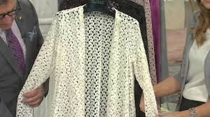 Drape Cardigan Pattern Joan Rivers Drape Front Crochet Cardigan With Long Sleeves With