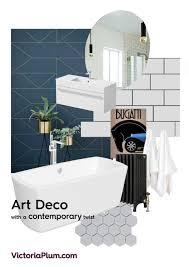 Modern Art Deco Bathrooms by Art Deco Mood Board Victoriaplum Com