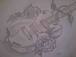 boy and guitar pencil drawing image amazing drawing art pictures