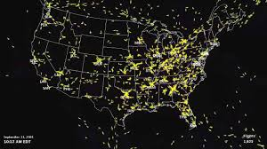 Radar Map Usa by Air Traffic Map On 9 11 Youtube