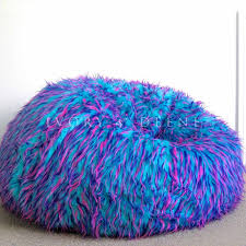 retro colourful large bean bag cover in faux fur buy bean bags