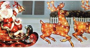 lawn reindeer with lights flying santa and reindeer outdoor decoration and reindeer lawn