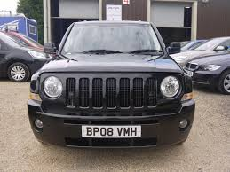 jeep crossover black used 2008 jeep patriot 2 4 cvt limited 4x4 in black black