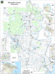 Wisconsin Snowmobile Trails Map by Welcome To Marinette County The Real North Waterfall Maps