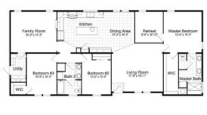 3 Bedroom 2 Bath Mobile Home Floor Plans Pelican Bay 30683a Manufactured Home Floor Plan Or Modular Floor Plans