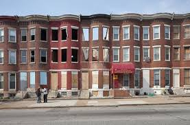 the row houses of baltimore maryland