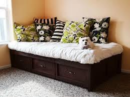 modern twin platform bed with storage drawers twin platform bed