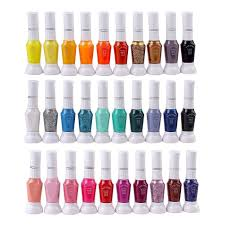amazon com 30 colors nail art two way pen and brush varnish