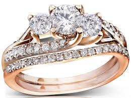 Wedding Ring Sets For Her by Rose Wedding Ring Set For Her Jewelocean Com