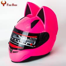 pink motocross helmet m l xl xxl cute pink lady full face motorcycle helmets cat ear
