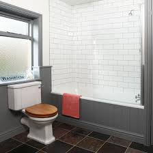 grey and white tiled bathroom bathroom decorating ideas style