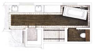 Hand Rendered Floor Plan Creating Environments Facilitating Community Harrison Bathroom