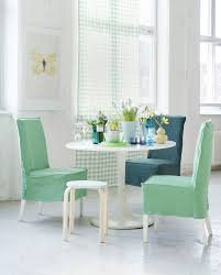 fascinating dining room chair covers pastel green and blue dining