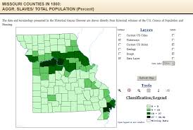 missouri map by population slavery in missouri american civil war forums