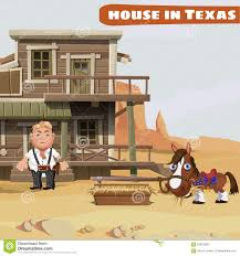 wooden two storey house of a cowboy in texas stock vector image