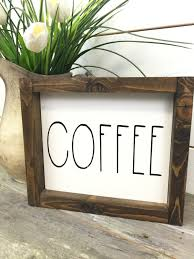 home decor address rustic farmhouse coffee sign rustic wood sign rustic home