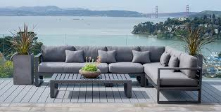 Outdoor Furniture Sectional Sofa Outdoor Deep Seating Terra Patio U0026 Garden Teak Furniture