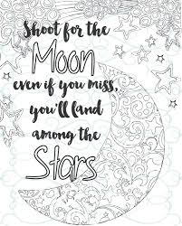 inspirational coloring page printable 04 shoot for the