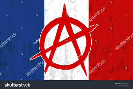 Anarchy Flag French Grunge Flag Red Sign Anarchy Stock Vector 437351089