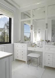 Grey Vanity Bathroom by Gray Bath Vanity With Lucite Stool Transitional Bathroom