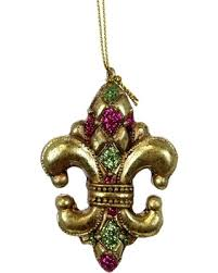 mardi gras ornaments get the deal fleur de lis ornament mardi gras small