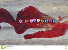 halloween letter on blood stock photo image 78148222
