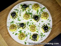 spider decoration for deviled eggs recipe my