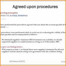 7 agreed upon procedures engagement letter audit letters