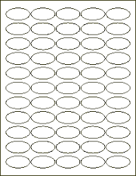 1 1 2 x 3 4 inch oval label blank labels for inkjet and laser